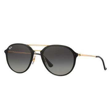 Ray-ban Men's Blaze Double Bridge Gold Sunglasses, Gray Lenses - Rb4292n