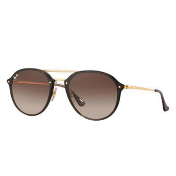 Ray-ban Men's Blaze Double Bridge Gold Sunglasses, Brown Lenses - Rb4292n