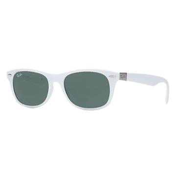 Ray-ban Men's New Wayfarer Liteforce White Sunglasses, Green Lenses - Rb4207
