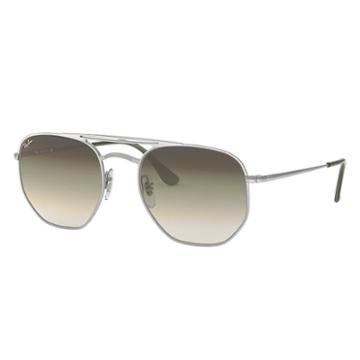 Ray-ban Silver Sunglasses, Green Lenses - Rb3609