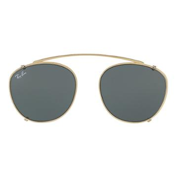 Ray-ban Rb6355 Clip-on Gold Sunglasses - Rb6355c