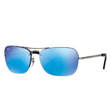 Ray-ban Men's Gunmetal Sunglasses, Blue Lenses - Rb3541
