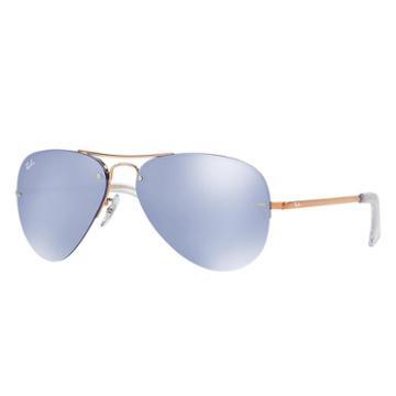 Ray-ban Copper Sunglasses, Violet Lenses - Rb3449
