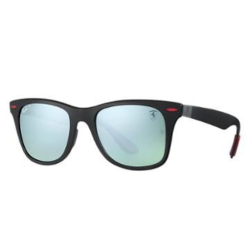 Ray-ban Scuderia Ferrari Brazil Limited Edition Black Sunglasses, Polarized Gray Lenses - Rb4195m