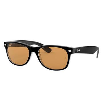 Ray-ban Men's New Wayfarer Black Sunglasses, Yellow Lenses - Rb2132