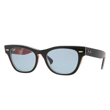 Ray-ban Women's Laramie Black Sunglasses, Blue Lenses - Rb4169