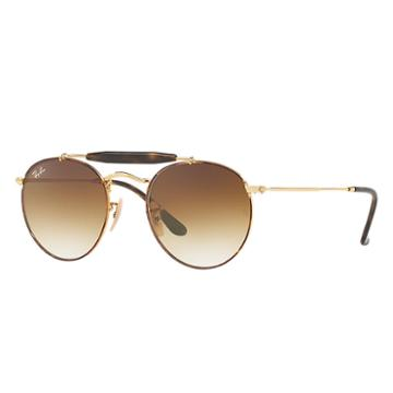 Ray-ban Gold Sunglasses, Brown Lenses - Rb3747