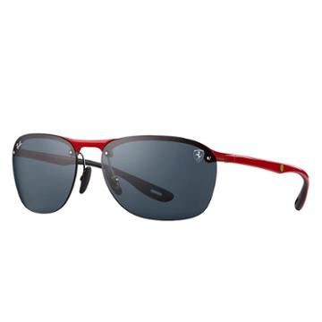 Ray-ban Scuderia Ferrari Collection Red Sunglasses, Gray Lenses - Rb4302m