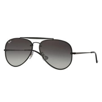 Ray-ban Blaze Aviator Black Sunglasses, Gray Lenses - Rb3584n