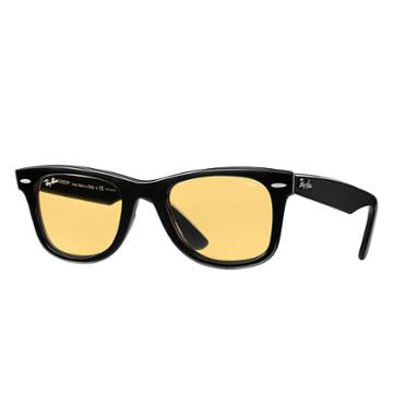 Ray-ban Wayfarer Evolve- Holiday Exclusive Edition Black Sunglasses, Yellow Lenses - Rb2140