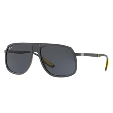 Ray-ban Scuderia Ferrari Us Limited Edition Grey Sunglasses, Gray Lenses - Rb4308m