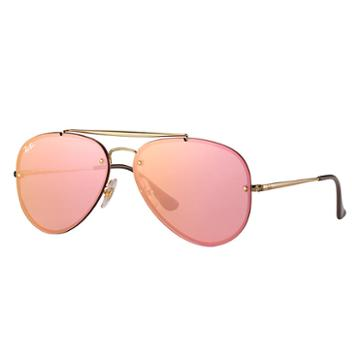 Ray-ban Blaze Aviator Gold Sunglasses, Pink Lenses - Rb3584n