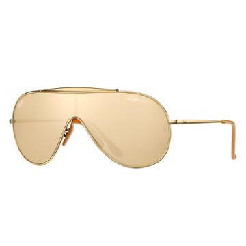 Ray-ban Gold En Wings Gold Sunglasses Sunglasses, Yellow Lenses - Rb3597k