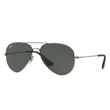 Ray-ban Black Sunglasses, Green Lenses - Rb3558