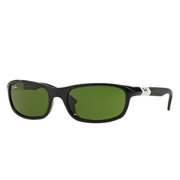 Ray-ban Rj9056s Junior Black Sunglasses, Green Lenses - Rb9056s
