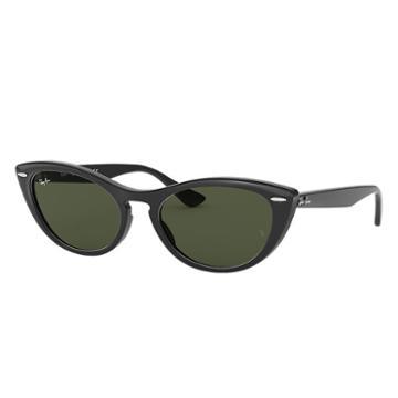Ray-ban Nina Black Sunglasses, Green Lenses - Rb4314n