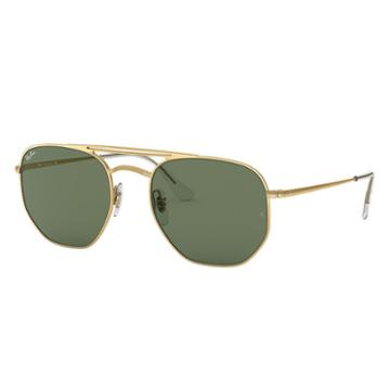 Ray-ban Gold Sunglasses, Green Lenses - Rb3609