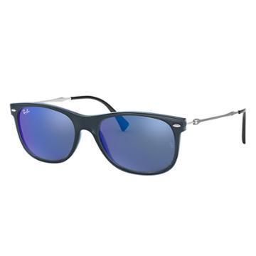 Ray-ban Silver Sunglasses, Blue Lenses - Rb4318