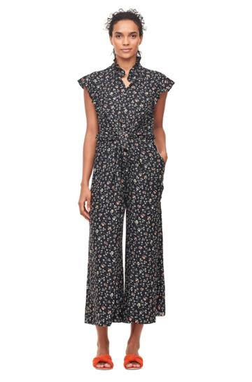Rebecca Taylor Vine Print Silk Jumpsuit