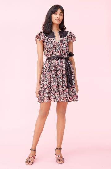 Rebecca Taylor Rebecca Taylor La Vie Print Mix Dress