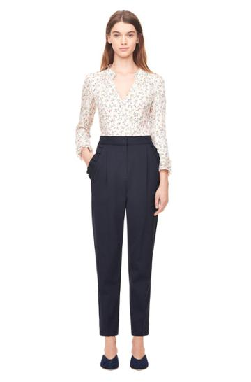 Rebecca Taylor Spring Suiting Ruffle Pant