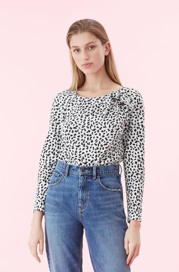 Rebecca Taylor La Vie Le Jaguar Jersey Top