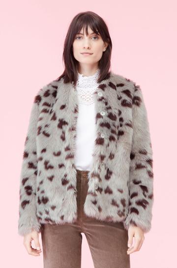 Rebecca Taylor Rebecca Taylor La Vie Snow Fox Faux Fur Coat