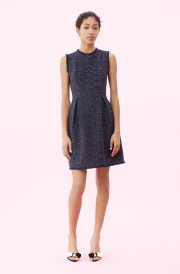 Rebecca Taylor Rebecca Taylor Rainbow Tweed Dress Navy, Size 00