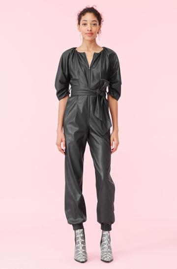 Rebecca Taylor Rebecca Taylor Vegan Leather Jumpsuit