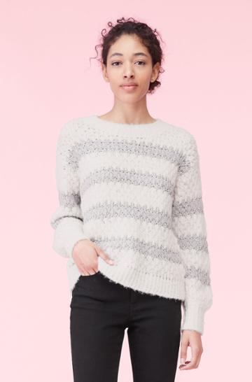 Rebecca Taylor Rebecca Taylor Lurex Stripe Pullover
