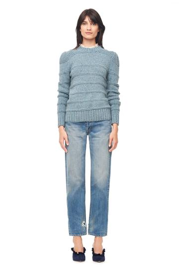 Rebecca Taylor La Vie Donegal Tweed Ribbed Pullover