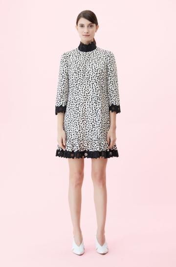 Rebecca Taylor Rebecca Taylor La Vie Le Jaguar Embroidered Dress Sand, Size X-small