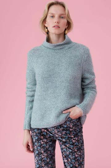 Rebecca Taylor La Vie Lofty Links Turtleneck Pullover