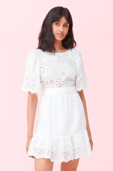 Rebecca Taylor Rebecca Taylor La Vie Sarcelle Embroidered Dress