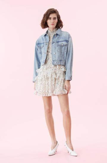 Rebecca Taylor La Vie Embellished Denim Jacket