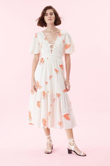 Rebecca Taylor La Vie Birds Print Dress