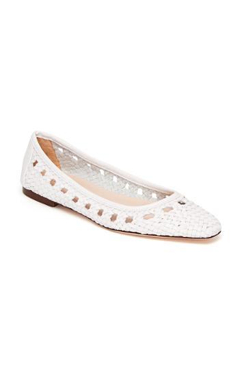 Rebecca Taylor Loeffler Randall Woven Leather Ballet Flat