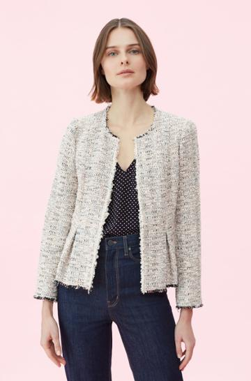 Rebecca Taylor Rebecca Taylor Rainbow Tweed Jacket Multi, Size 00