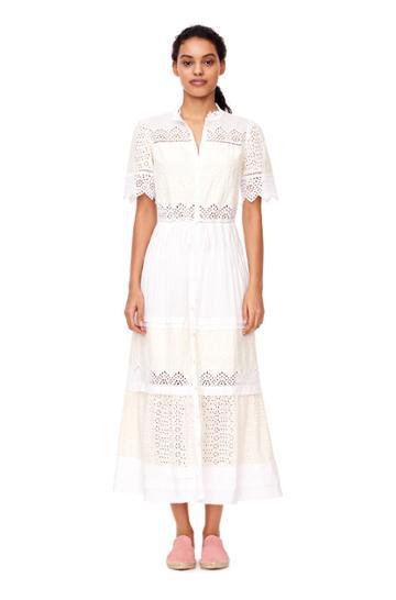 Rebecca Taylor La Vie Embroidered Voile Dress