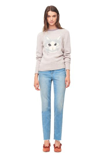 Rebecca Taylor Cat Instarsia Pullover