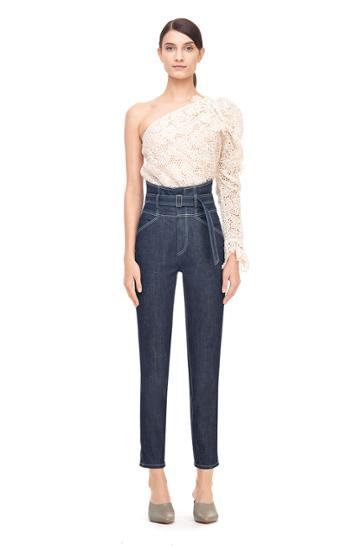 Rebecca Taylor La Vie Belted High Rise Jean