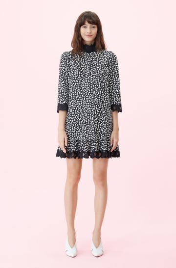 Rebecca Taylor Rebecca Taylor La Vie Le Jaguar Embroidered Dress Black, Size X-small