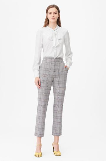 Rebecca Taylor Rebecca Taylor Tailored Plaid Suiting Notch Pant