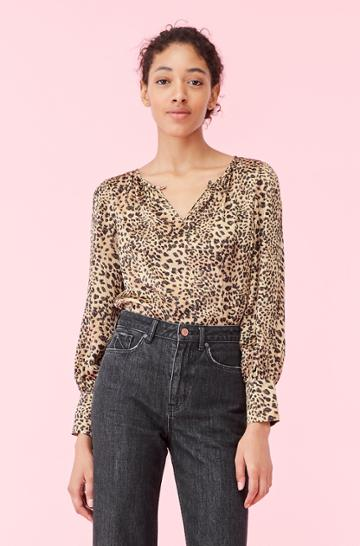 Rebecca Taylor Rebecca Taylor Lynx Hammered Silk Top