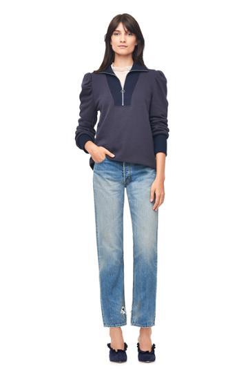 Rebecca Taylor Fleece Turtleneck Zip Pullover