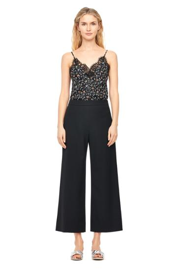 Rebecca Taylor Spring Suiting Wide Leg Crop Pant
