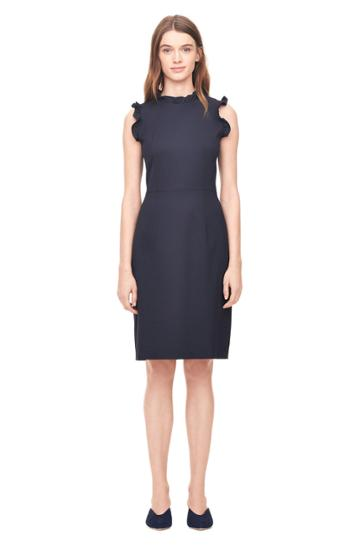 Rebecca Taylor Spring Suiting Ruffle Dress