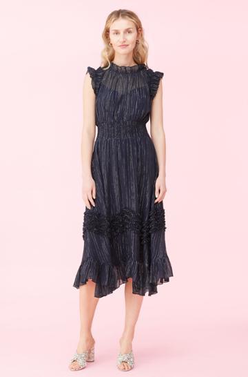 Rebecca Taylor Rebecca Taylor Lurex Smocked Dress