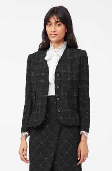Rebecca Taylor Rebecca Taylor Tailored Textured Tweed Jacket