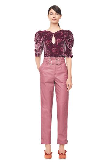 Rebecca Taylor Belted Leather Pant
